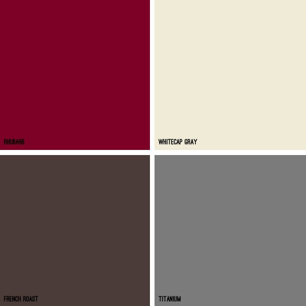 Grayish Brown Color | ... color scheme. Use whitecap gray, titanium, and french roast as your