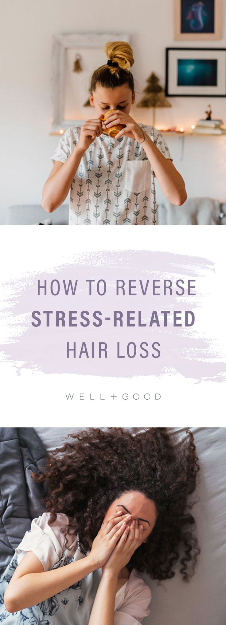 How to reverse hair loss from stress.