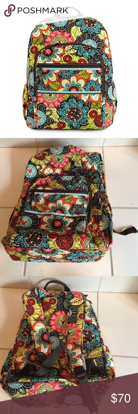 Disney Vera Bradley Backpack Used one time. Purchased at the Vera Bradley store in Downtown Disney Vera Bradley Bags Backpacks