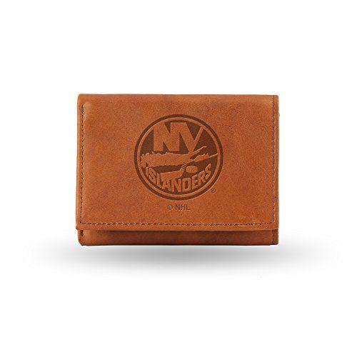 NHL New York Islanders Embossed Genuine Leather Trifold Wallet