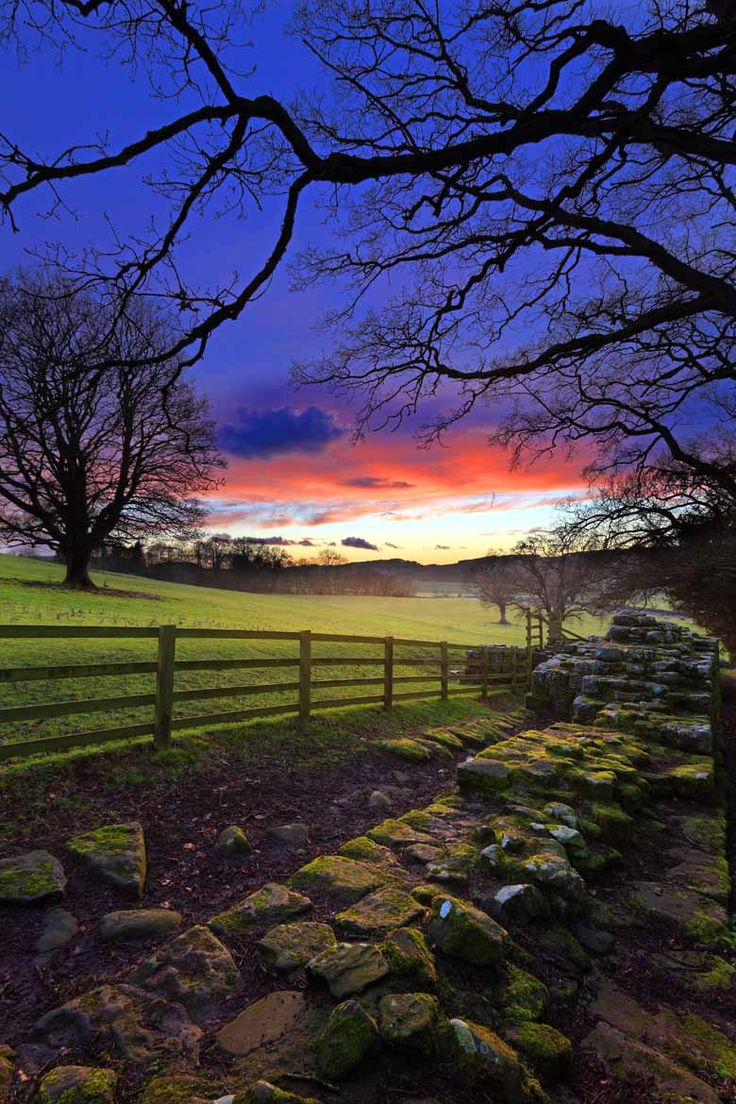 Brunton Turret Hadrians Wall, Northumberland, England by Roger Clegg