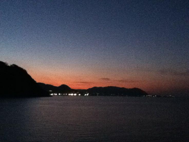 Zushi bay in a dawn