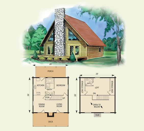 valleyview log home and log cabin floor plan in WV