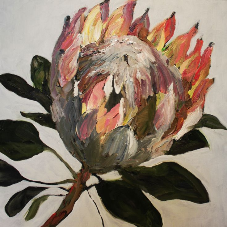 ARTFINDER: Protea l by Ray Saunderson - A king Protea - Oil on canvas...... Its all about the brush strokes.