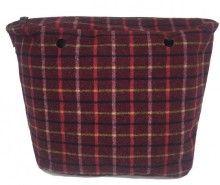 Obag kostkovaná vnitřní taška Tartan Rosso - 750 Kč