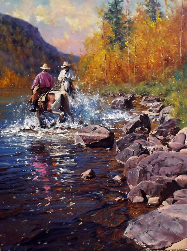 'Your Turn' Oil on Canvas - By Robert Hagan by robert-hagan.deviantart.com on @deviantART