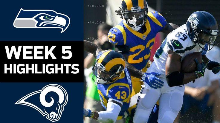 Game #5 2017: Seahawks vs LA Rams Home Highlights   Rams 16-10 Loss Oct 8, 2017 Sun (YouTube)