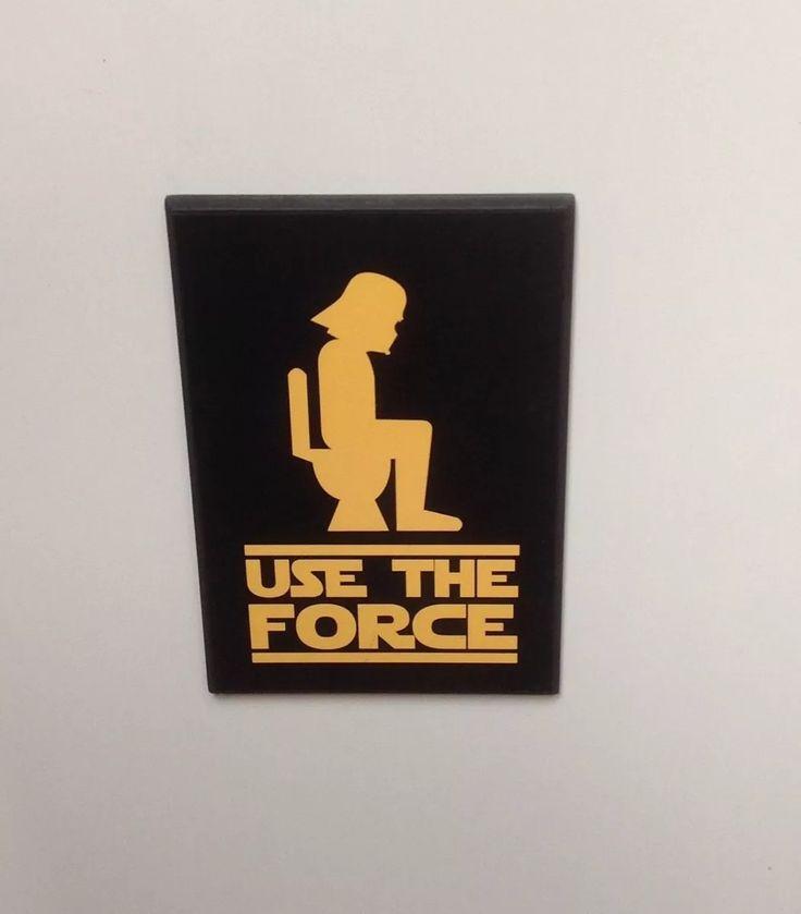 placa de banheiro star wars use the force frete grátis                                                                                                                                                      Mais