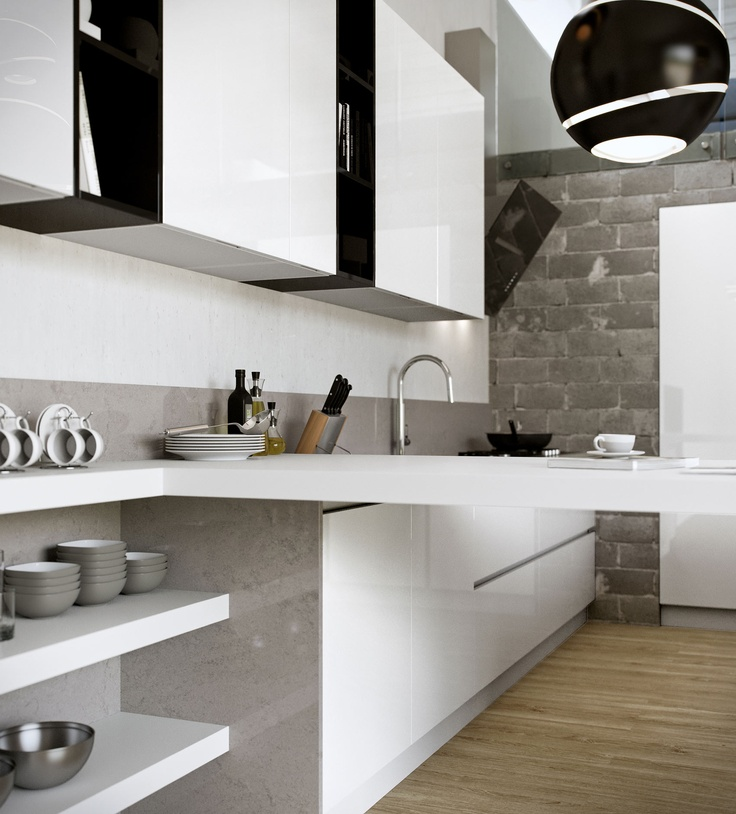 YOUNG Black And White Kitchen By