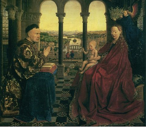Madonna of Chancellor Rolin by Jan van Eyck