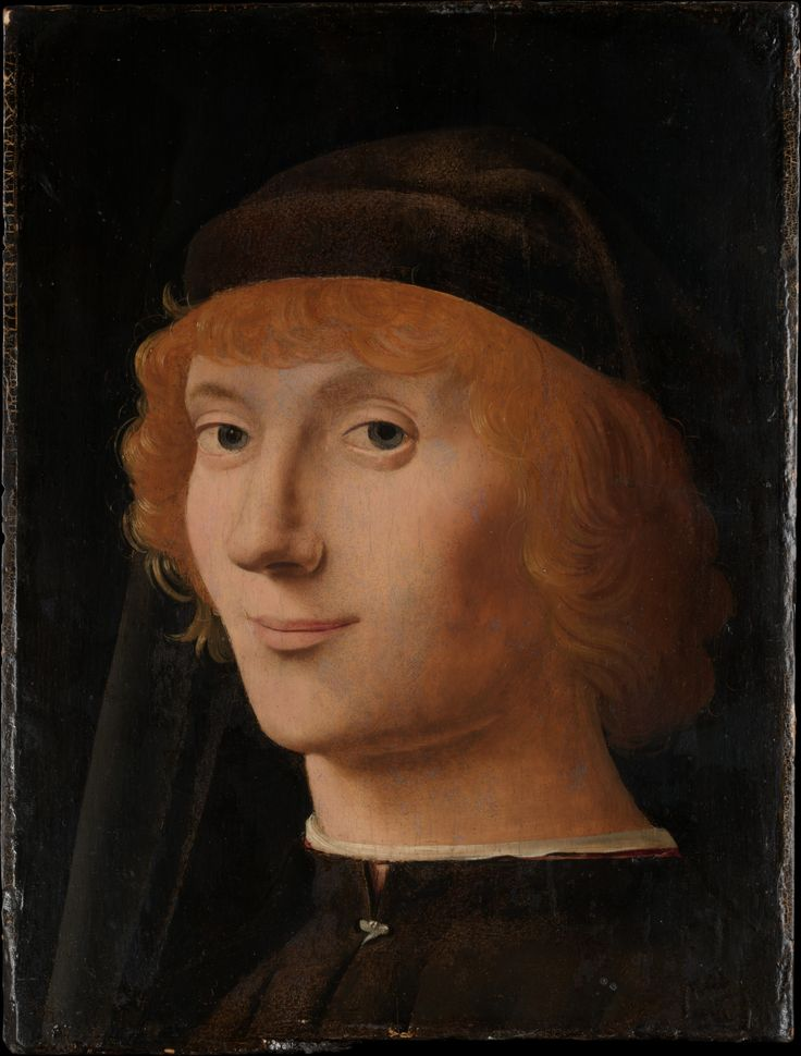 Portrait of a Young Man  Artist:Antonello da Messina (Antonello di Giovanni d'Antonio) (Italian, Messina ca. 1430–1479 Messina)  Date:ca. 1470  Medium:Oil on wood  Dimensions:10 5/8 x 8 1/8 in. (27 x 20.6 cm)  MMA