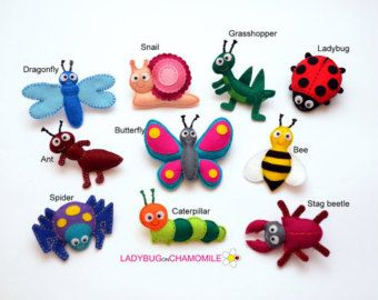 Safari Animals felt magnets CHOOSE YOUR by LadybugOnChamomile