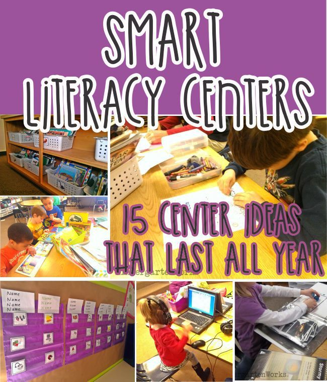 how to create smart literacy centers that last all year - KindergartenWorks