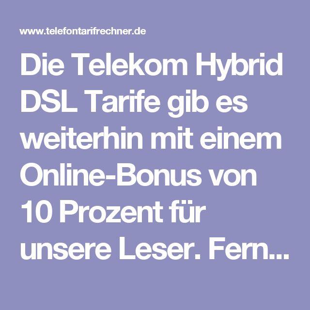 Die Telekom Hybrid DSL Tarife gib es weiterhin mit einem Online-Bonus von 10 Prozent für unsere Leser. Ferner starten die Hybrid Tarife nun im Rahmen einer neuen Tarifaktion durchgehend in den ersten 12 Monaten bei monatlichen 19,95 Euro. Egal ob 16 Mbit oder 100 Mbit Speed angesagt ist. Mit den Telekom Hybrid Tarifen sind immer höhere Datenraten beim Surfen möglich, als der Festnetzanschluss über den DSL-Anschluss hergibt. Damit läßt sich ein 16 Mbit Anschluss auf bis zu 50 Mbit oder auch…