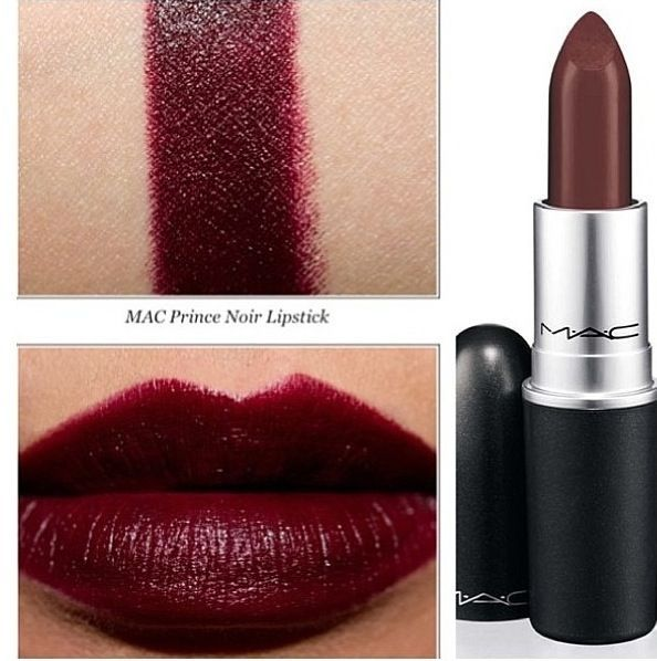 MAC Prince Noir | make-up | Pinterest | Mac Lipsticks, Mac ... Mac Lipstick Prince Noir
