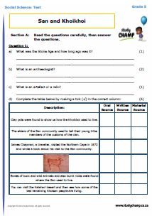 Grade 6 social science worksheets south africa