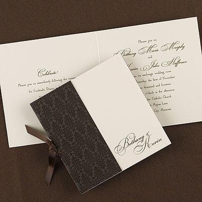 Superior Designed In Mocha Invitation   Wedding Invitation Ideas   Wedding Invites   Wedding  Invitations   Create A FREE Proof Online   Order Sample Invitations