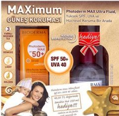 Bioderma Photoderm Max Ultra Fluid Light SPF50+ 40 ML Alana Bioderma Sensibio H2O 250 ML Hediye  http://www.bodybutik.com/