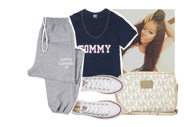 """""""🔥"""" by eazybreezy305 ❤ liked on Polyvore featuring Michael Kors, Converse, simpleoutfit and 2016"""