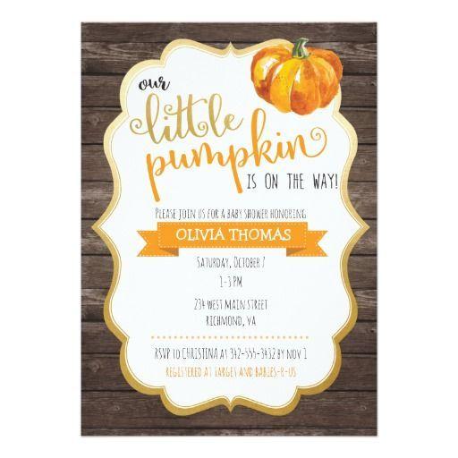 Superior A Little Pumpkin Baby Shower Invitation