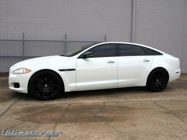 Jaguar XJL. White on black