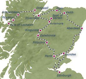 Scotland-journey map