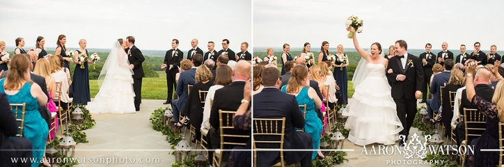Evening Wedding Ceremony @trumpwinery Grand Hall | First Kiss Wedding Portrait | Just Married Wedding Portrait | Virginia Wedding Photographer | Aaron Watson Photography