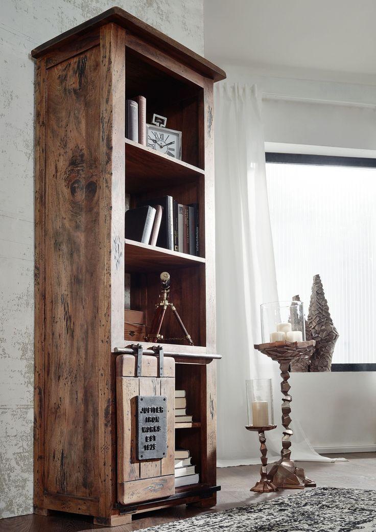 Dank Der Eisenbeschlägen Und Sonnengetrocknetem Mangoholz Strahlen Die Möbel  Einen Rustikalen Flair Aus. Das Vollmassive Holz Ist Gänzlich Naturbelassen.