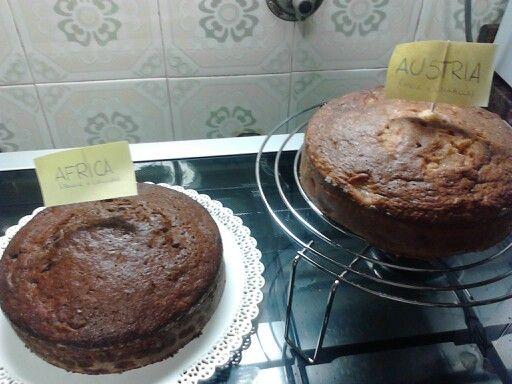 Torta banane e cioccolato (AFRICA) Torta mele e cannella (AUSTRIA) ~home made~