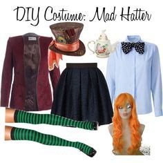homemade female mad hatter costumes - Google Search