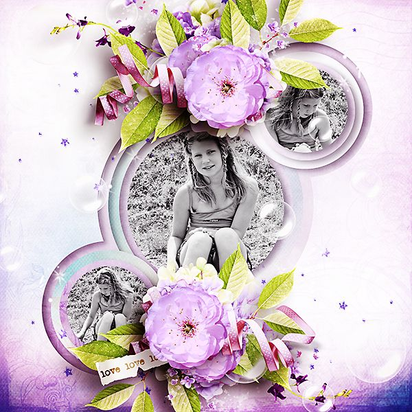 *** NEW ***  Happiness Part 3 by Ilonka's Ilonkas ScrapbookArt http://www.digiscrapbooking.ch/shop/index.php?main_page=product_info=22_188_id=12017  Credit Kit: Softness Enchanted by ManueDesigns Msad
