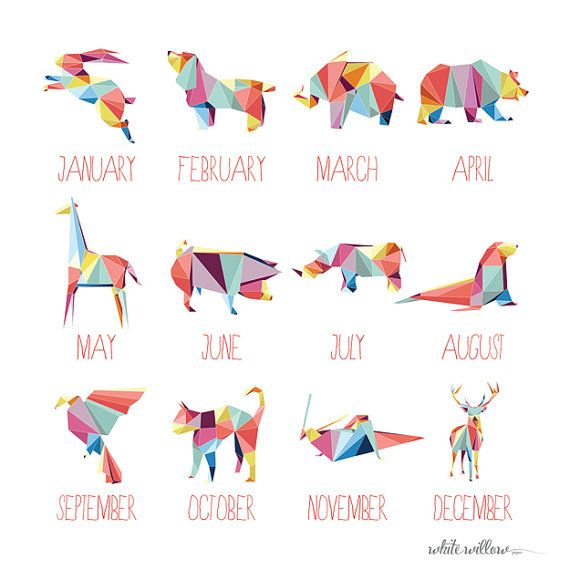 2014 Calendar Geometric Animals