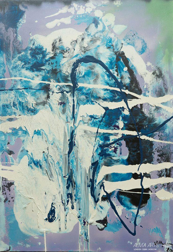 "Mehriban Shamsadinskaya - Alma Arts Agency ""Frozen Kiss"", 2014. Oil on canvas 100x70cm"