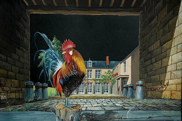 LE COQ GAULOIS ! - Peint par Michel MICHAUX