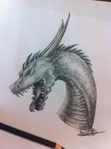 How To Draw A Dragon Step By Step Dragons Draw A Dragon 3d Drawing