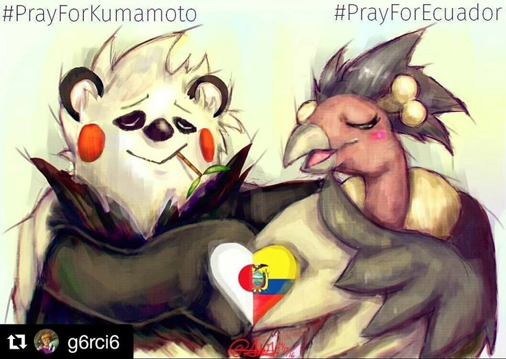 #Repost @g6rci6 with @repostapp  A little drawing/prayer for the victims of both the #KumamotoEarthquake and the #EcuadorEarthquake May you heal your hearts and Rest In Peace in this double tragedy. . . #PrayForKumamoto #PrayForEcuador #earthquake #pokemon #art #illustration #kumamoto #ecuador #pangoro #mandibuzz #kumamon #熊本 #熊本地震 #ecuadorterremoto #prayer #drawing #condor #love #heart #japan #ポケモン by nathy_bcrr