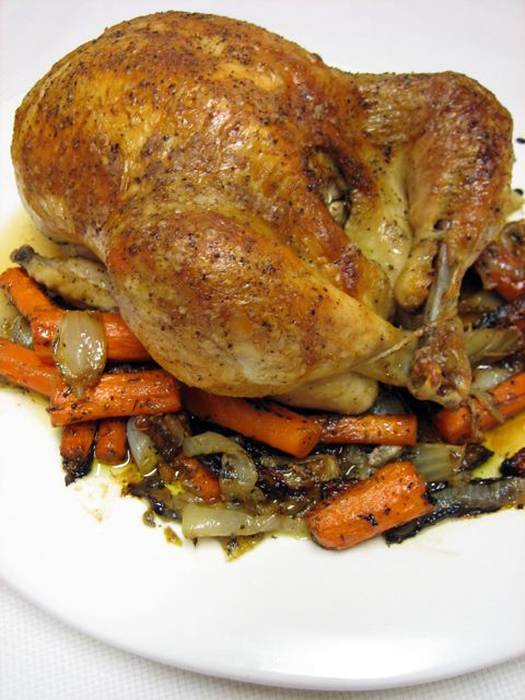 Roasted Chicken, so simple and so good. Every young cook should master how to roast a chicken.