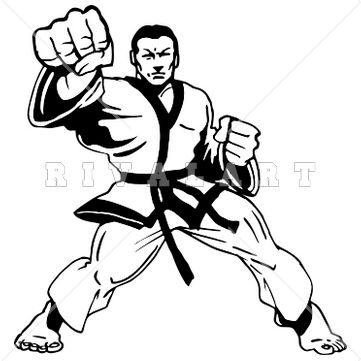how to draw a karate master