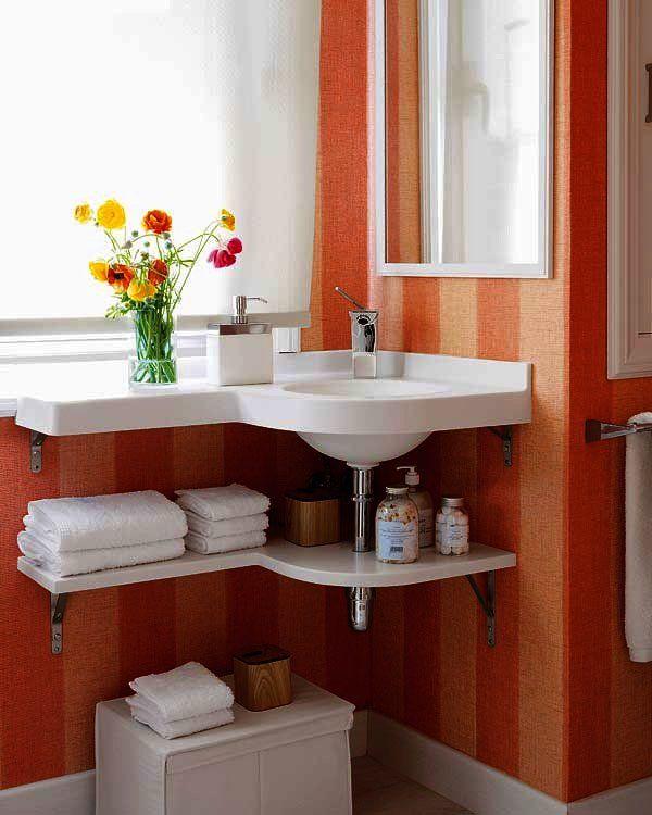 Muebles prácticos para organizar el baño                                                                                                                                                     Más