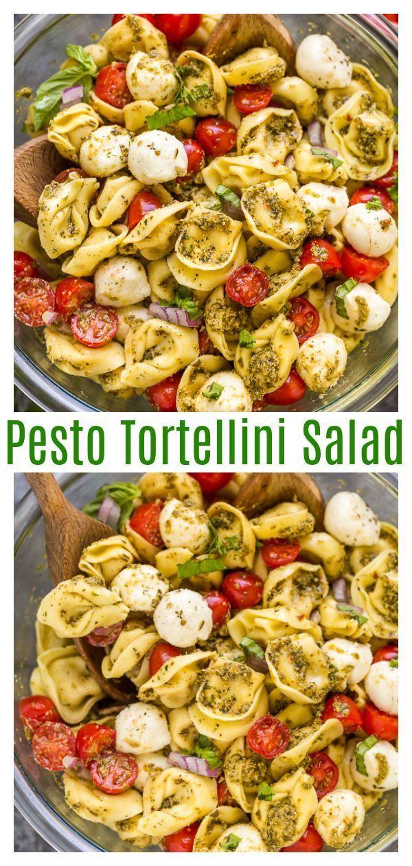 Einfacher Pesto Tortellini Nudelsalat   – Essen