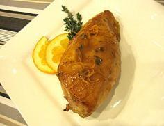 Orange Maple Glazed Chicken with Thyme #JillsTable