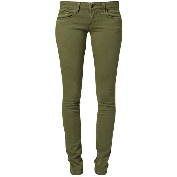 Mavi SERENA Slim fit jeans soft green (300 BRL) ❤ liked on Polyvore featuring jeans, pants, bottoms, pantalones, calças, oliv, green jeans, olive green skinny jeans, slim cut jeans and mavi jeans