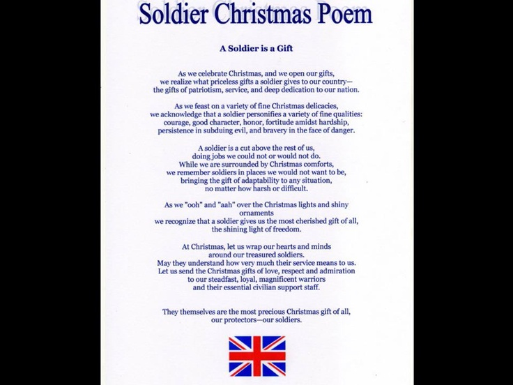 Soldier's Christmas Poem | gifts | Pinterest | Christmas ...