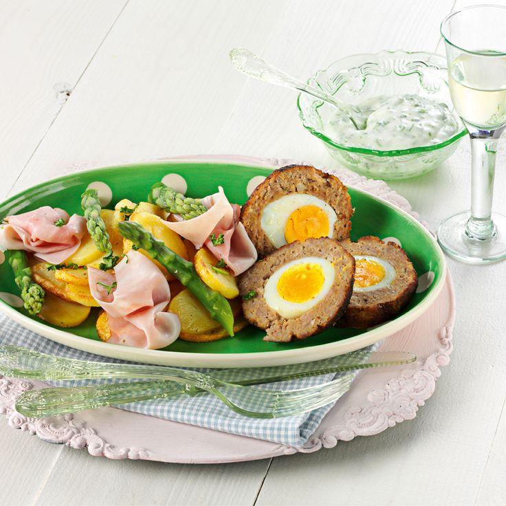 Recept week 15: Paas gehaktbal met aardappel-asperge salade
