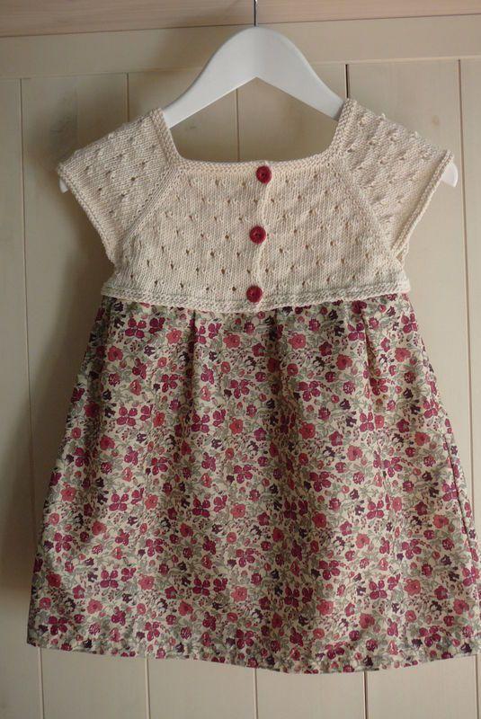 Kumaşla Örgü Kız Çocuk Elbise Modelleri ve Yapılışı