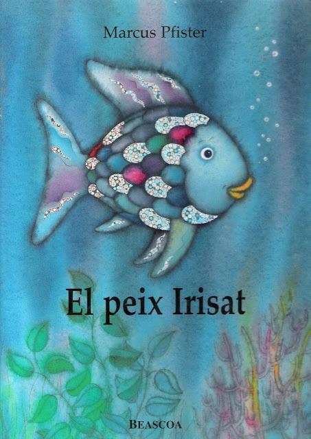 Portada de El peix irisat de Marcus Pfister (edició catalana)