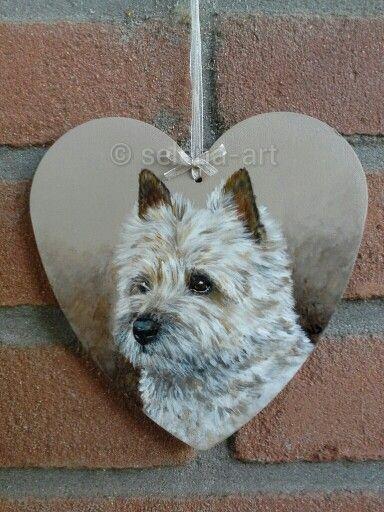MDF hartje met Cairn Terrier