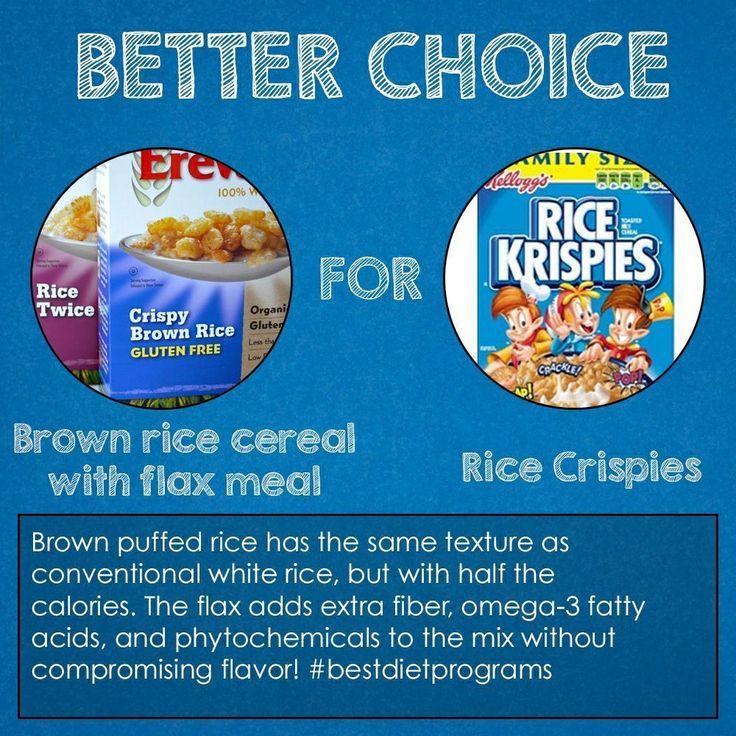 Swap brown rice cereal with flax meal for rice crispies. #bestdietprograms #diet #weightloss #paleodiet #weightwatchers #jennycraig #plexusslim #atkinsdiet #isagenix #bodybyvi #slimquick #slimgenics #17daydiet #dashdiet #southbeachdiet #completenutrition