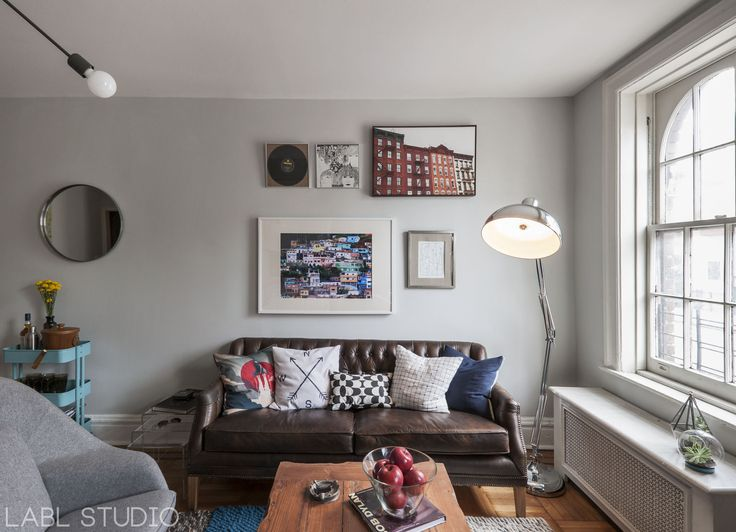 Ikea Sofa Bed West Village bachelor pad apartment by LABL studio leather couch