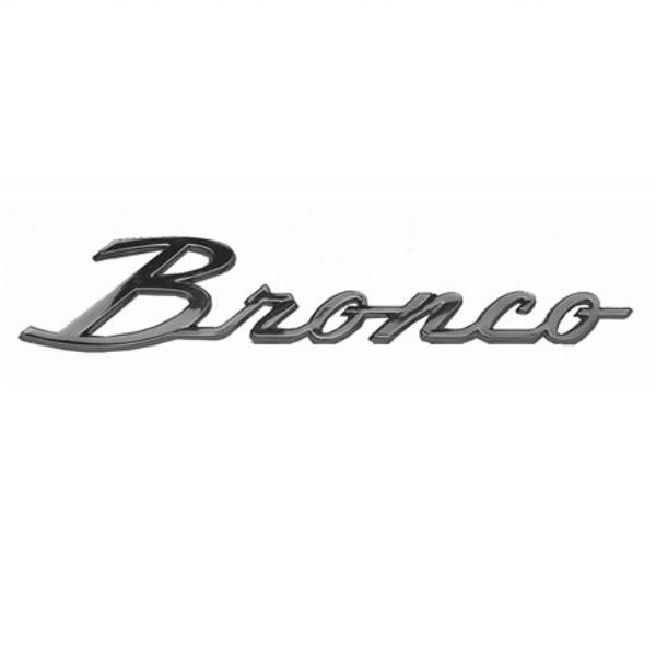 Bronco Script 66-77 - WILD HORSES Early Ford Bronco Parts emblem